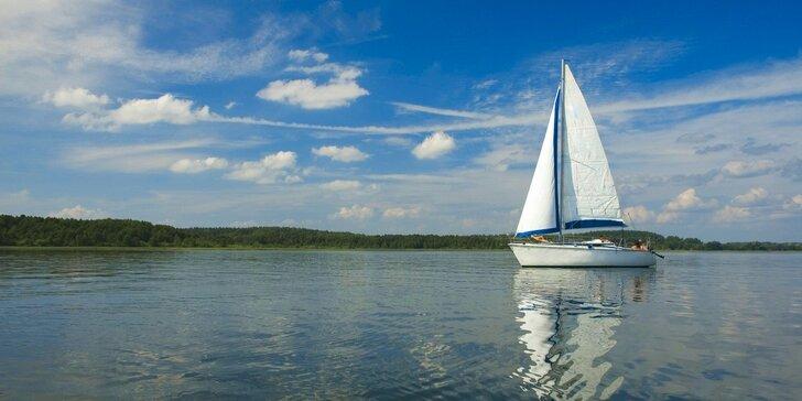 Romantika na jachtě na Orlíku na 1-3 dny bez nutnosti průkazu