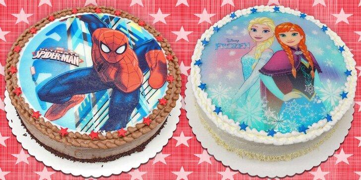Dorty s obrázkem na jedlém papíru: Spiderman, Ledové království, Auta i Princezny
