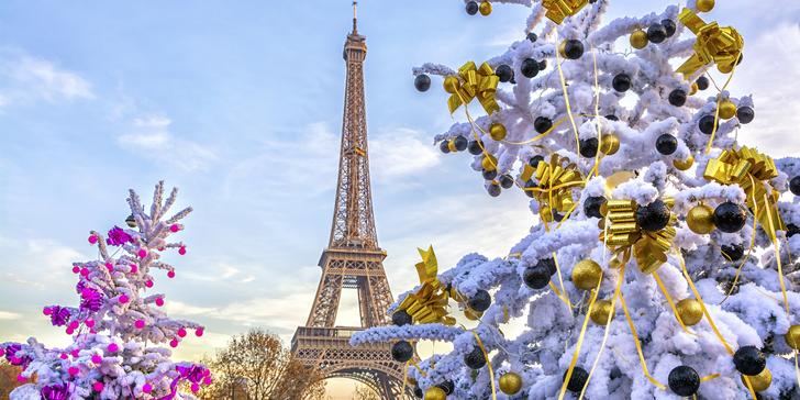 Adventní čas v romantické Paříži s průvodcem a ubytováním na 1 noc se snídaní