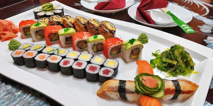 Sushi v té nejlepší formě: ukázkový set 42 lahodných kousků exotické pochoutky