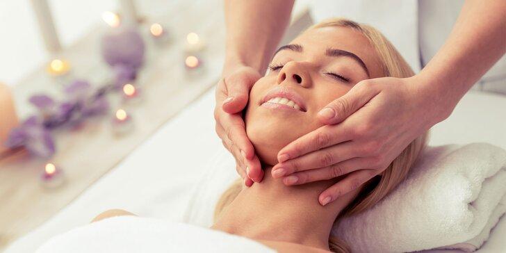 60minutová masáž hlavy nebo obličeje dle výběru
