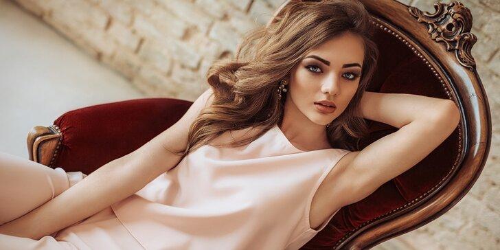 Společenský účes a večerní líčení pro všechny délky vlasů