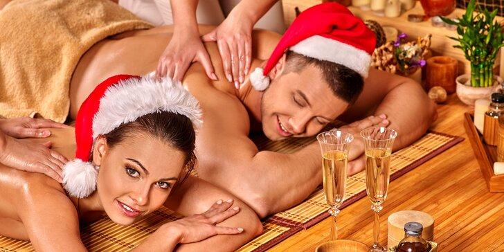 Romantické hýčkání pro dva: hodinová masáž dle vlastního výběru pro 2 osoby
