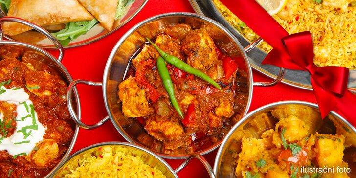 Bohaté 4chodové menu plné specialit pro 2 milovníky indické kuchyně