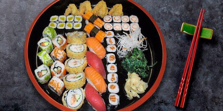 Uspořádejte japonskou hostinu: 31 nebo 47 kousků čerstvého sushi s sebou