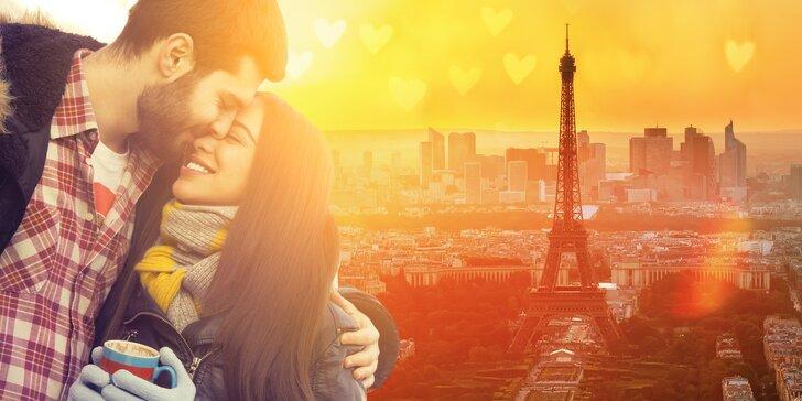 Pojeďte stylově prožít svátek zamilovaných: Valentýn v Paříži, ubytování na 1 noc