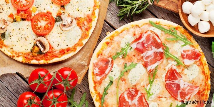Chuť Itálie: 2 libovolné pizzy z pece na dřevo v restauraci U Fidela