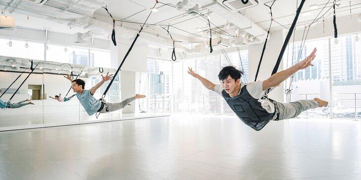 Zábavné a funkční cvičení bungee workout nebo bungee fit: 1, 5 nebo 10 vstupů