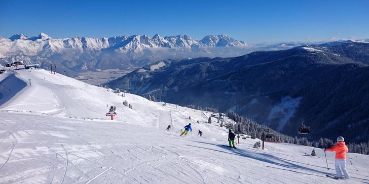 Prosincové jednodenní lyžování v rakouském středisku Skicircus -Saalbach