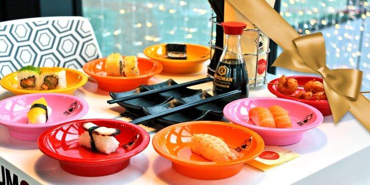 Jediné running sushi ve východních Čechách: až 3 hodiny neomezené konzumace