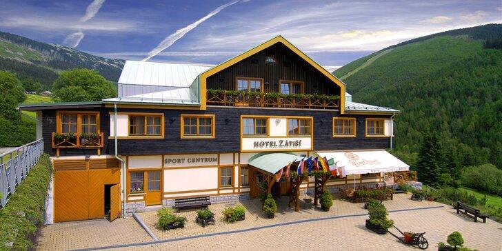 Pobyt v útulném horském hotýlku ve Špindlu s wellness a polopenzí pro dva