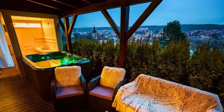 1 nebo 2 noci v luxusním apartmánu s vířivkou a kinotelevizí nebo saunou
