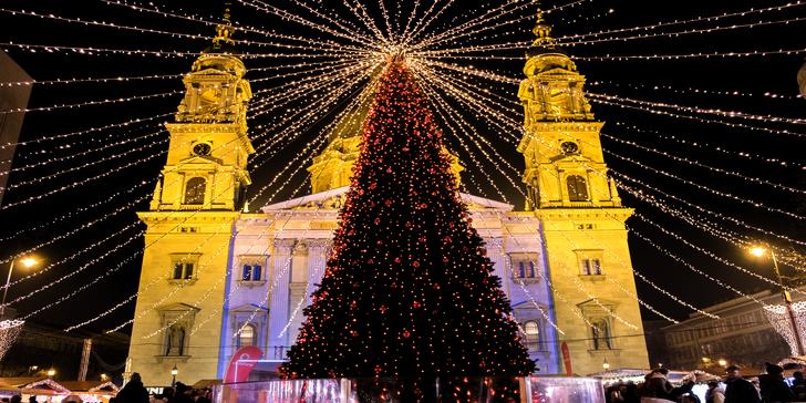 O víkendu do adventní Budapešti na 1 noc ve 3* hotelu s možnou návštěvou lázní