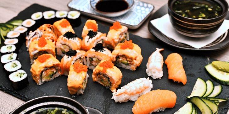 Hodujte jako Asiaté: Tradiční miso polévka, sushi a dezert pro dva
