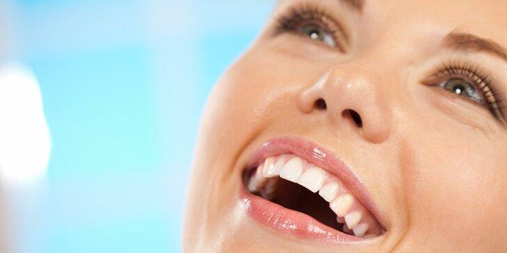 Ordinační bělení zubů LED lampou Philips Zoom s možností dentální hygieny