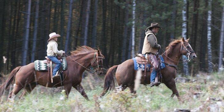 Staňte se westernovým jezdcem: Krásný den u koní a projížďka přírodou