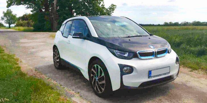 Výlet do budoucnosti: zapůjčení elektromobilu BMW i3 na 10 h, týden nebo měsíc