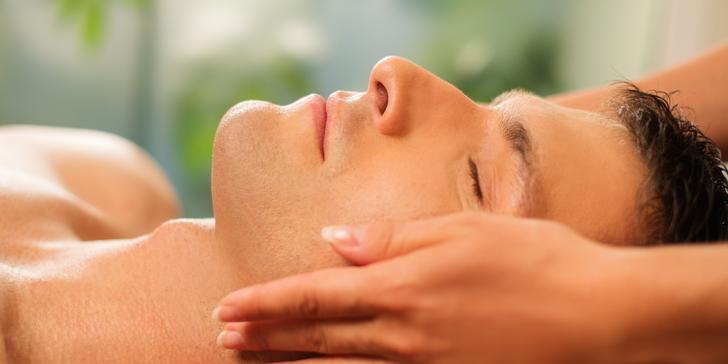 Kosmetické ošetření pro pány s masáží očního okolí