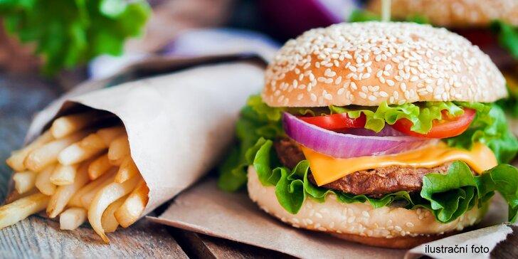 2x Královský burger a hranolky s rozvozem v Přerově