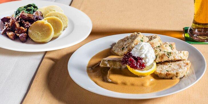 To nejlepší z české kuchyně - vytříbené 3chodové menu pro 2 labužníky