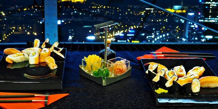 Hostina v 60 metrech nad zemí – výtečný sushi set pro dvojici nebo partu