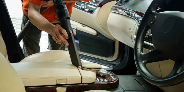Luxování, čištění interiéru i mezidveřních prostor a další kosmetika pro váš vůz