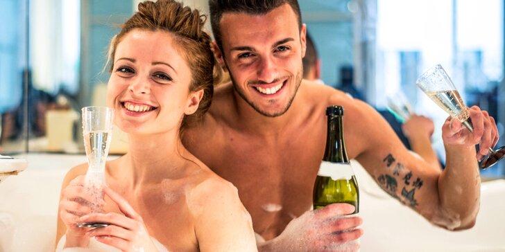 Romantický balíček pro pár: vonná lázeň, infrasauna a občerstvení s lahví sektu
