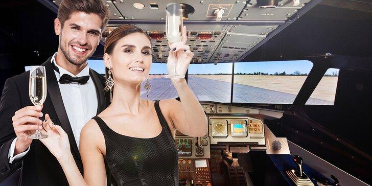 Ve dvou do kokpitu dopravního letadla: 60 nebo 90 minut na simulátoru a víno