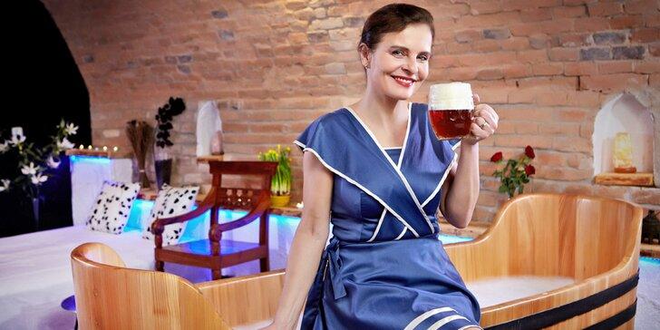 Noc v Rožnovských lázních: pivní péče a 3chodové degustační menu