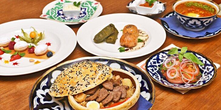 Neznámý Uzbekistán: čtyřchodové menu s telecí polévkou, pilafem i dezertem