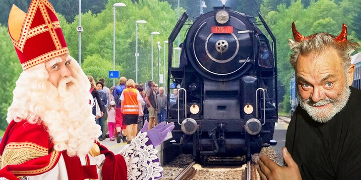 Mikulášská veselice s Václavem Upírem Krejčím i jízda parní lokomotivou