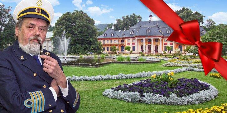 Dárkový lístek na plavbu lodí k německému zámku Pillnitz s obědem a večeří