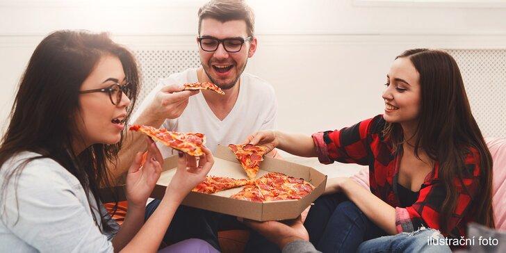 Dvě velké pizzy s osobním odběrem v Pizza Sprint