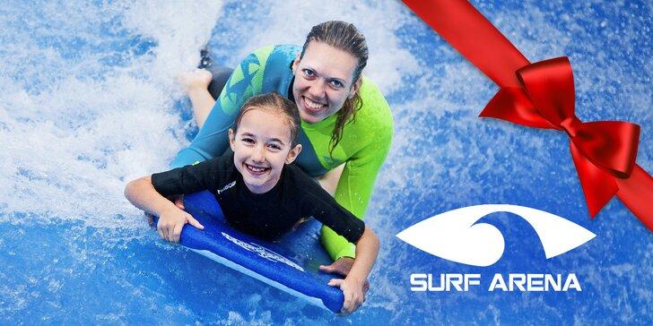 Hodinová jízda na surf trenažéru pod dohledem instruktorů vč. videozáznamu