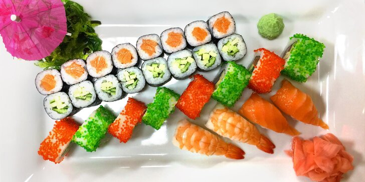 Sushi v té nejlepší formě: Set 28 nebo 50 ks exotické pochoutky