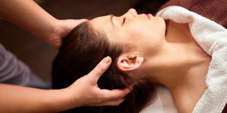 40minutová indická antistresová masáž hlavy včetně obličeje