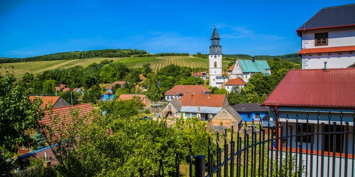 Oddychový pobyt na jižní Moravě s polopenzí, vínem i vstupem do wellness