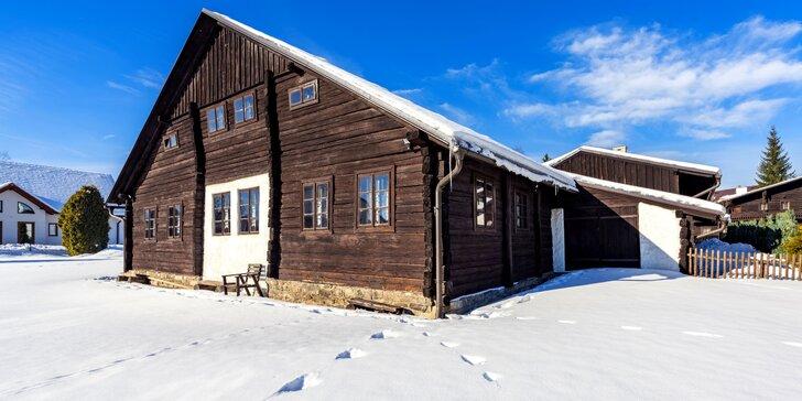 Zimní pobyt v typické horské chalupě pro dva i rodiny s dětmi na Šumavě