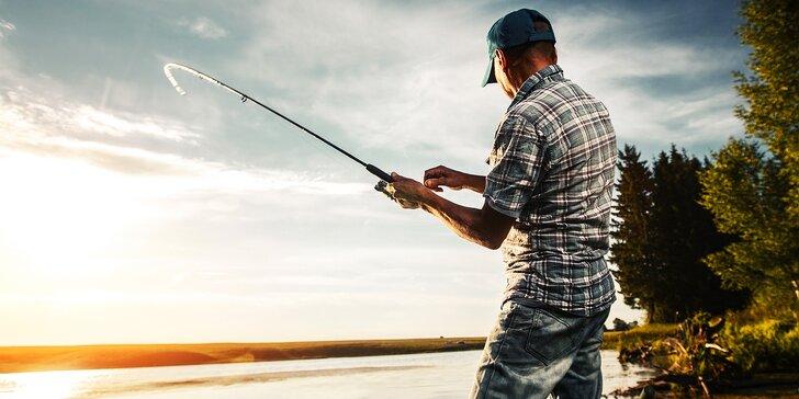 5 hodin rybaření pro 1 nebo 2 osoby – chyťte zlatou rybku nebo pstruha k večeři