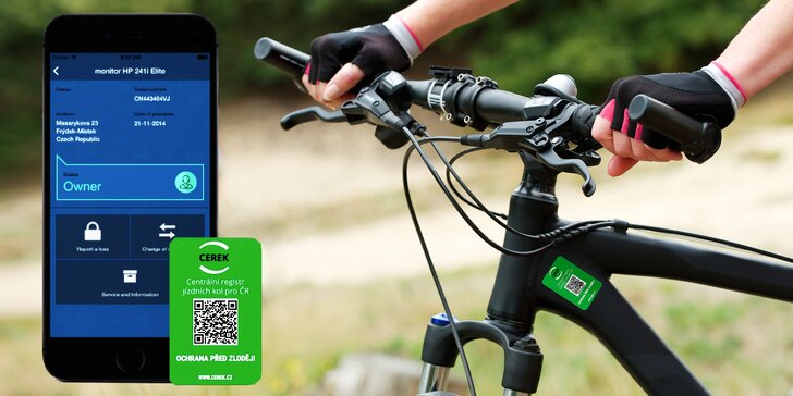 Chraňte své kolo před zloději: zapsání do centrálního registru na 5 let
