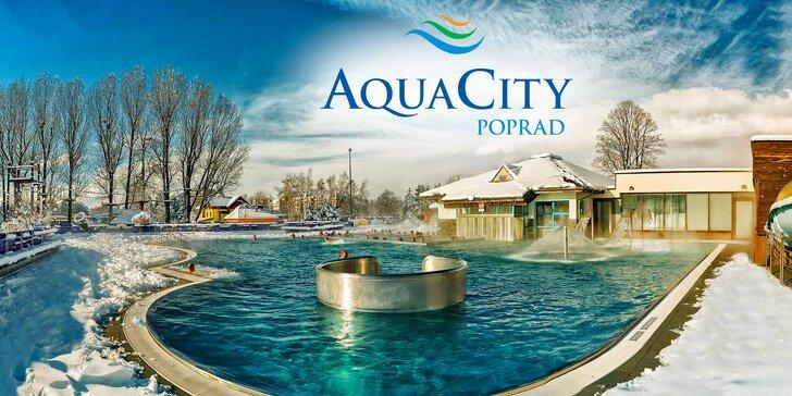 Celodenní vstupy k bazénům a do wellness v Aquacity Poprad