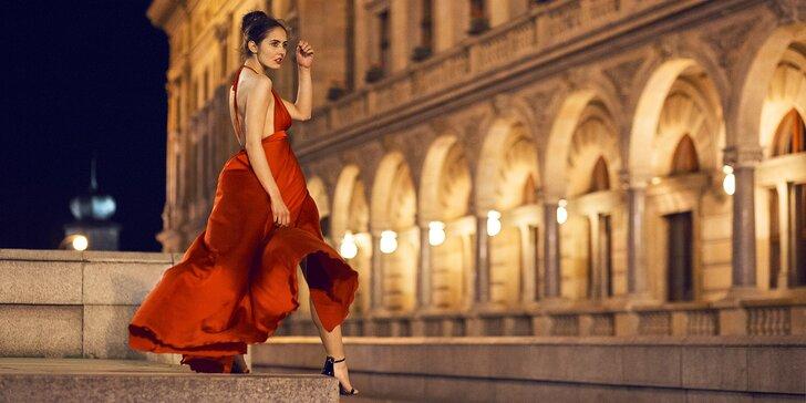 Fotky jako z reklamy: profi focení v centru Prahy s nalíčením, účesem i odvozem