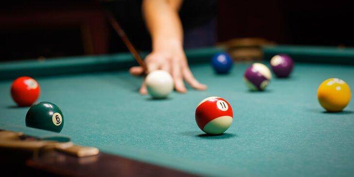 Pool billiard čeká jen na vás: 1 nebo 2 hod. hry v Billiard centru Kolbenka