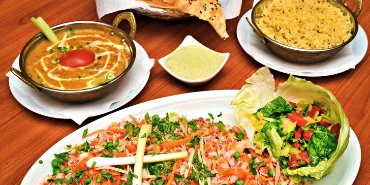 Dárkový voucher do indické restaurace u I. P. Pavlova v hodnotě 500 nebo 1000 Kč