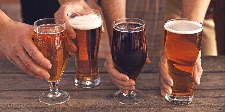 Exkurze do mini pivovaru Volt s degustací pěti vzorků různých piv