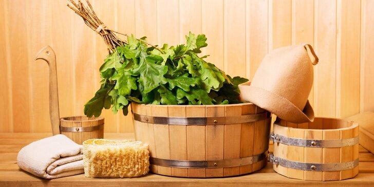 1 či 5 dopolední v SaunaBaru: Uvolněte se ve finské, bio i herbal sauně