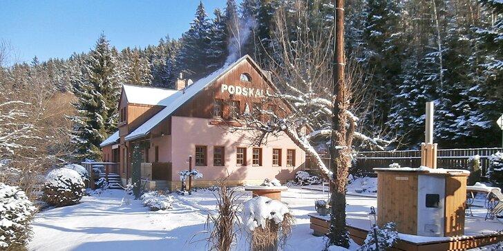 Zimní lyžovačka v Adršpachu s možností zaslouženého wellness odpočinku