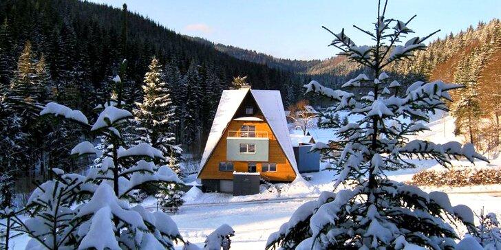 Horské apartmány na samotě v Beskydech: wellness i lyžařský vlek zdarma