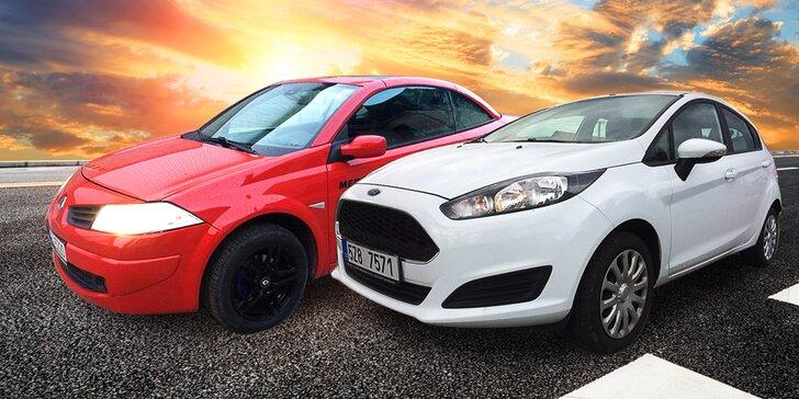 Zapůjčení automobilu na 24 hodin: Renault Megane Cabrio nebo Ford Fiesta