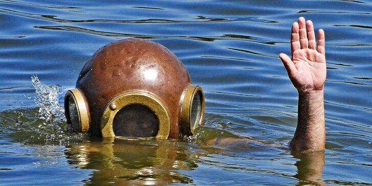 Ve stopách kapitána Nema: Ponor v autentické historické kesonové přilbě